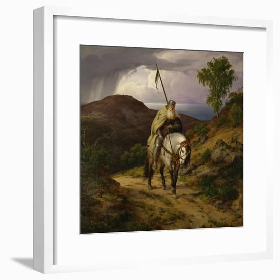Return from the Crusade-Carl Friedrich Lessing-Framed Giclee Print
