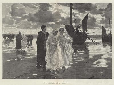 Return from the Fete Dieu-Phillip Richard Morris-Giclee Print