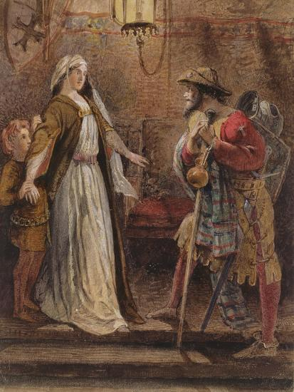 Return from the Long Crusade, 1861-William Bell Scott-Giclee Print