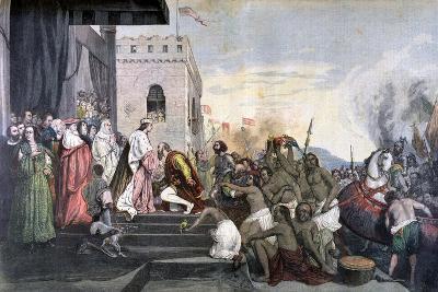 Return of Christopher Columbus, 1892--Giclee Print