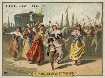 Return of King Louis XVI to Paris, French Revolution, 6 October 1789--Giclee Print