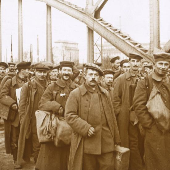 Return of soldiers from Alsace-Lorraine, c1914-c1918-Unknown-Photographic Print