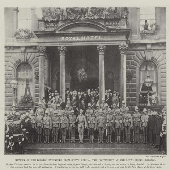 Return of the Bristol Engineers from South Africa, the Contingent at the Royal Hotel, Bristol--Giclee Print