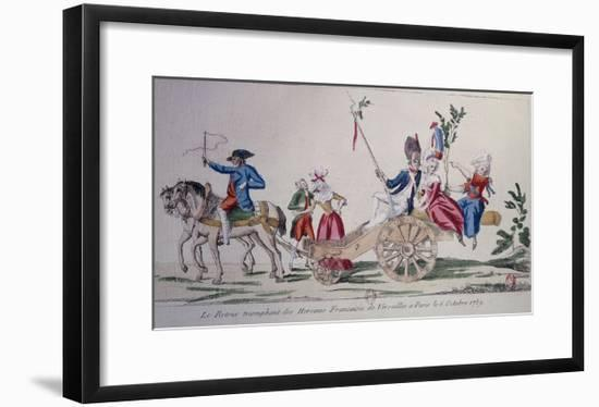 Return of the Heroines of Versailles to Paris, Oct. 6, 1789, at Beginning of French Revolution--Framed Giclee Print