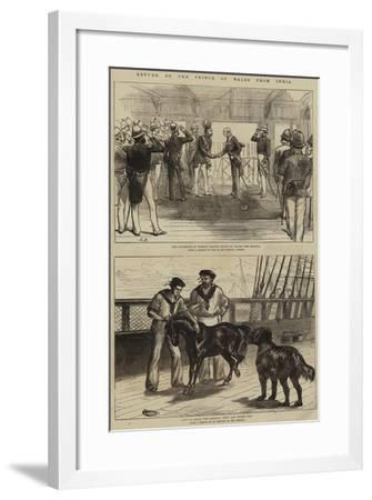 Return of the Prince of Wales from India--Framed Giclee Print
