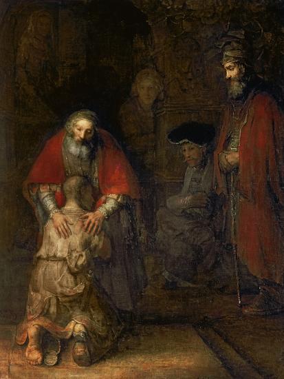 Return of the Prodigal Son, circa 1668-69-Rembrandt van Rijn-Premium Giclee Print