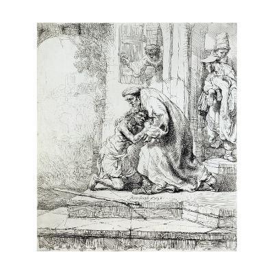 Return of the Prodigal Son-Rembrandt van Rijn-Giclee Print
