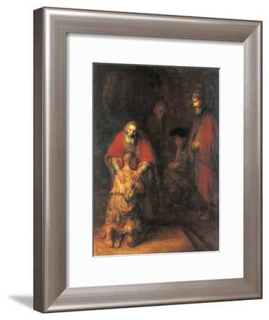 Return of the Prodigal Son-Rembrandt van Rijn-Framed Art Print