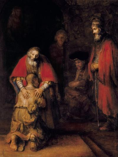 Return of the Prodigal Son-Rembrandt van Rijn-Art Print