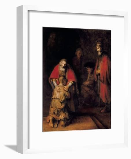 Return of the Prodigal Son-Rembrandt van Rijn-Framed Art Print