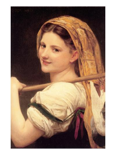 Returned from the Market-William Adolphe Bouguereau-Art Print