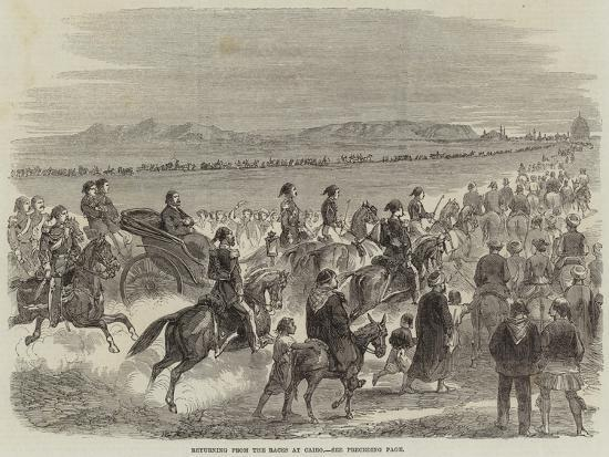 Returning from the Races at Cairo--Giclee Print