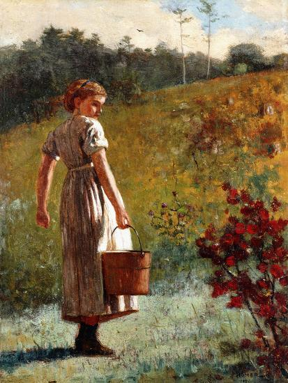 Returning from the Sping, 1874-Winslow Homer-Giclee Print