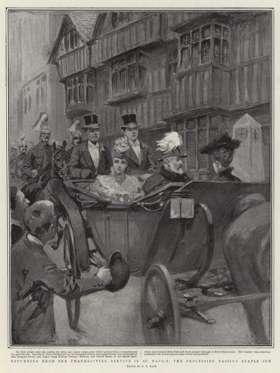 Returning from the Thanksgiving Service in St Paul's, the Procession Passing Staple Inn-William T^ Maud-Giclee Print