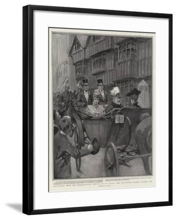 Returning from the Thanksgiving Service in St Paul's, the Procession Passing Staple Inn-William T. Maud-Framed Giclee Print