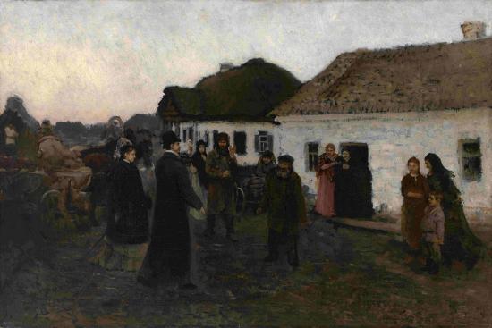 Returning Home, 1876-1877-Ilya Yefimovich Repin-Giclee Print