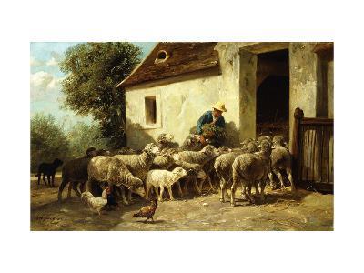 Returning Home-Charles Emile Jacque-Giclee Print