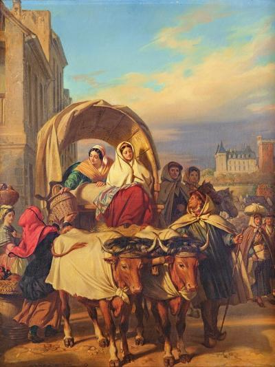 Returning to the Pau Market, 1860-Eugene Deveria-Giclee Print