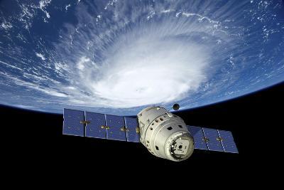 Reusable Crew Capsule in Low Earth Orbit-Stocktrek Images-Art Print