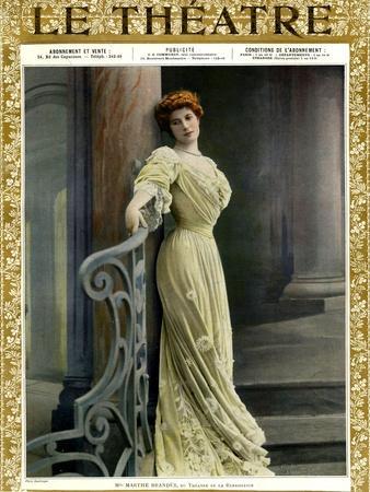 Marthe Brandes, Front Cover of 'Le Theatre' Magazine, 1904