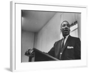 Rev. Martin Luther King Jr. Addressing a Protest Meeting