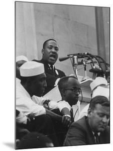 Rev. Martin Luther King Jr. Addressing Crowd During a Civil Rights Rally
