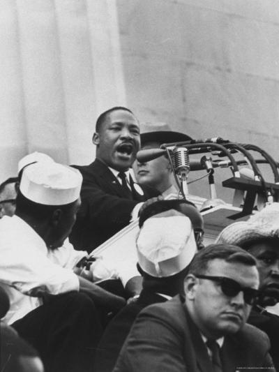 Rev Martin Luther King Jr Giving His I Have A Dream Speech During A Civil Rights Rally Premium Photographic Print By Francis Miller Art Com