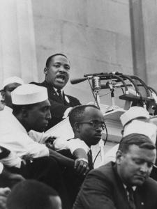 """Rev. Martin Luther King Jr. Giving His """"I Have a Dream"""" Speech During a Civil Rights Rally"""