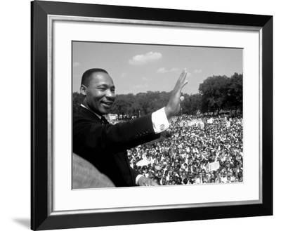 "Rev. Martin Luther King Jr. Giving His ""I Have a Dream"" Speech During March on Washington-Francis Miller-Framed Premium Photographic Print"