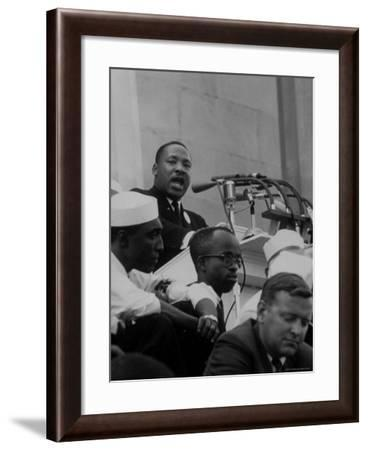 Rev. Martin Luther King Jr. Speaking During a Civil Rights Rally-Francis Miller-Framed Premium Photographic Print