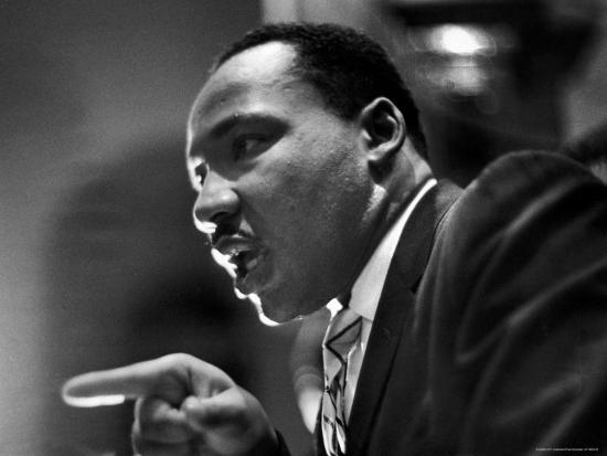 Rev. Martin Luther King Jr. Speaking in First Baptist Church at Rally for Freedom Riders-Paul Schutzer-Premium Photographic Print
