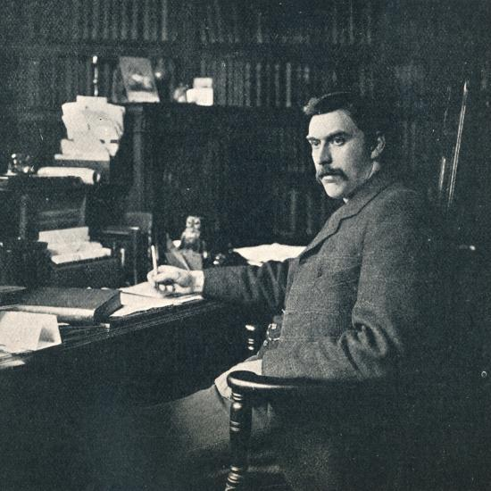 'Rev. Sylvester Horne, B.A., In His Study', 1901-Unknown-Photographic Print