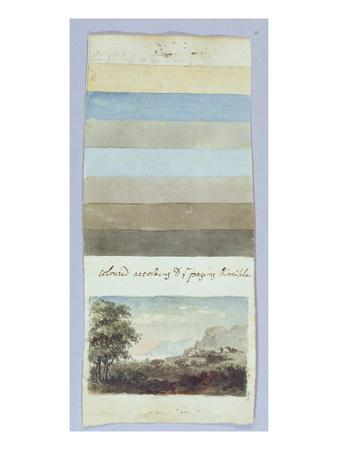 Colour Chart, from 'Hints to Form the Taste and Regulate Ye Judgement in Sketching Landscape'