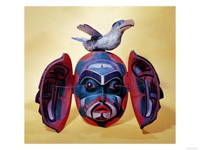 Revelation Mask, Kwakiutl People--Giclee Print