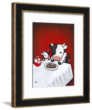 Revenge Is A Dish (Cow)-Luke Chueh-Framed Art Print