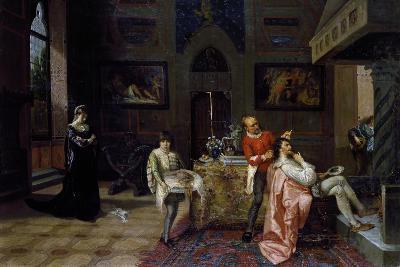 Revenge of Veronica Cybo, 1874-Francesco Saverio Altamura-Giclee Print