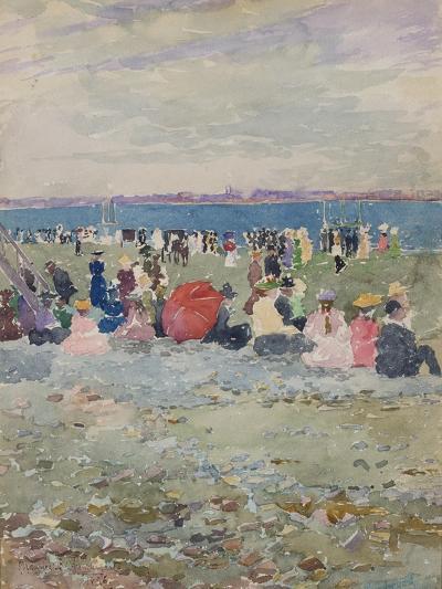 Revere Beach, 1896-Maurice Brazil Prendergast-Giclee Print