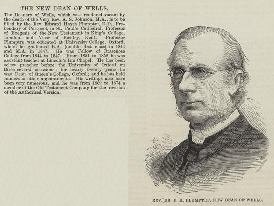Reverend Dr E H Plumptre, New Dean of Wells--Giclee Print