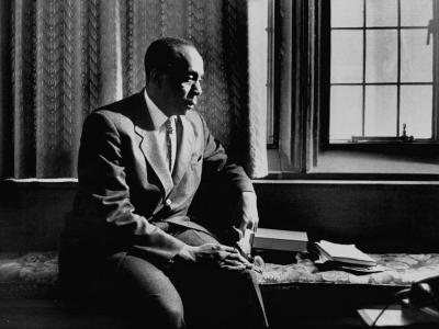 Reverend Howard Thurman, Sitting in His Study--Photographic Print