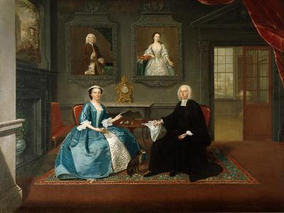 Reverend Streynsham Master and His Wife, Margaret of Croston, Lancashire, 1743-44-Arthur Devis-Giclee Print