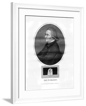 Reverend William Mason, English Poet, Editor and Gardener-R Page-Framed Giclee Print