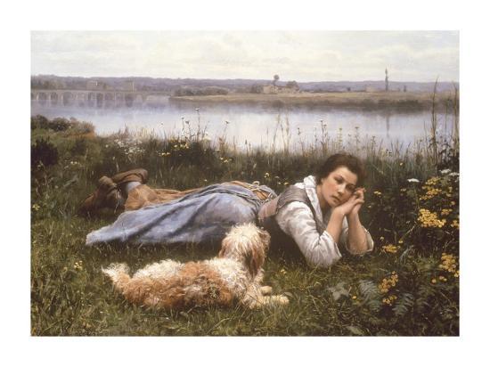 Reverie, 1866-Daniel Ridgeway Knight-Premium Giclee Print