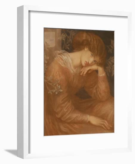 Reverie, 1868-Dante Gabriel Charles Rossetti-Framed Giclee Print
