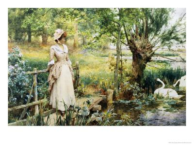 Reverie by the River-Alfred Augustus Glendenning-Giclee Print
