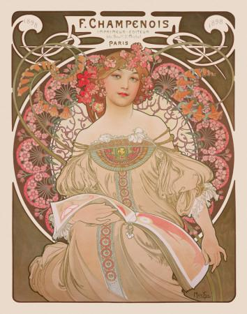 Reverie, c.1897-Alphonse Mucha-Art Print