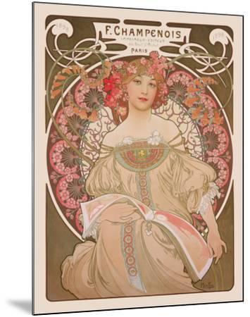 Reverie, c.1897-Alphonse Mucha-Mounted Art Print