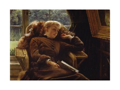 Reverie: Mrs. Newton Reclining in a Chair-James Ward-Giclee Print