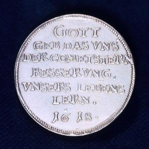 Reverse of a Medal Commemorating the Brilliant Comet of November 1618