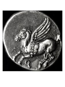 Reverse Side of a Coin Depicting Pegasus, from Corinth, 700-300 BC