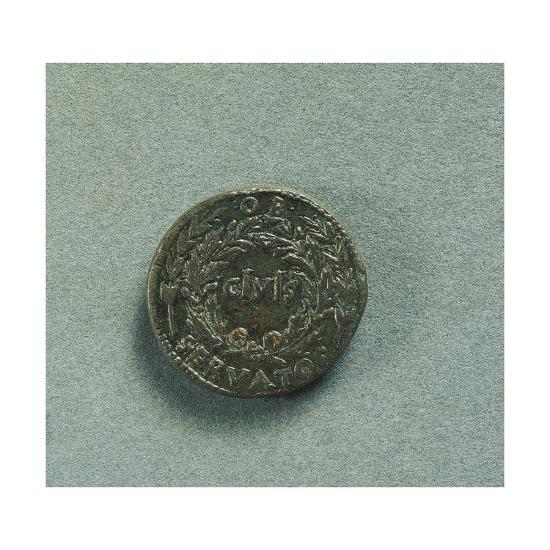 Reverse with Sestertius of Emperor Augustus--Giclee Print
